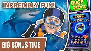 ⋆ Slots ⋆ INCREDIBLY Fun Slot Machine! ⋆ Slots ⋆ Win or Lose, Drop N Lock: Deep Sea Magic Is AMAZING