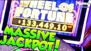 •Lucky Guy Won $133,449!!!•WHEEL OF FORTUNE Double Diamond 3D Slot Machine - MASSIVE MEGA JACKPOT!••