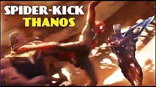 THANOS vs SPIDER-MAN slow motion AVENGERS INFINITY WAR!