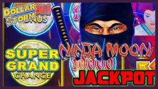 HIGH LIMIT Dollar Storm Ninja Moon SUPER GRAND CHANCE HANDPAY JACKPOT⋆ Slots ⋆️$10 Bonus Round Slot
