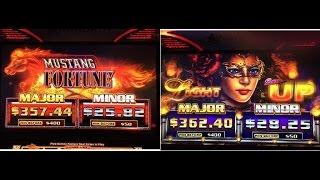 NEW Mustang Fortune/ Lighting Up Slot Bonuses- Ainsworth