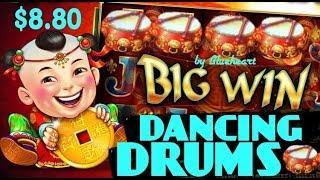 • SWEET TASTE OF MAX BET• DANCING DRUMS slot machine HUGE BONUS WIN!