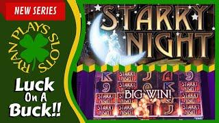 Starry Night Slot Machine • Luck On A Buck Series • Ryan Plays Slots