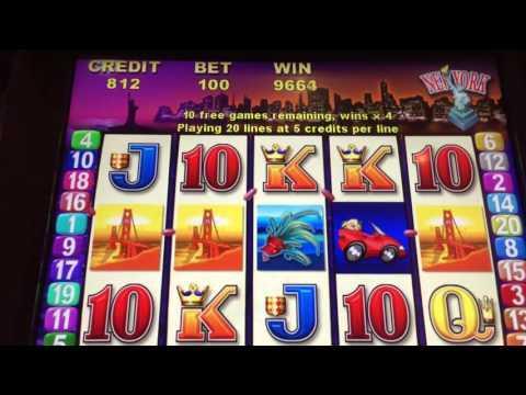 ROAD TRIP Slot Machine *BIG WIN* Free Spin Bonus!!