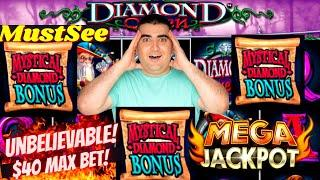 My BIGGEST JACKPOT On Diamond Queen Slot -$40 MAX BET | High Limit Slot Machine MEGA HANDPAY JACKPOT
