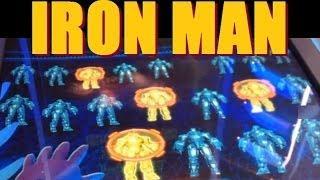 IRON MAN Slot Machine Bonus & Free Spins!! ~ WMS (Iron Man Slot Machines Video)