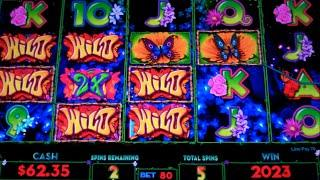 Wild Butterfly Slot Machine Bonus - 7 Free Games Win with Wild Burst