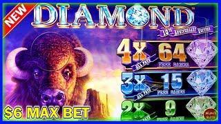 NEW GAME   BUFFALO DIAMOND SLOT MACHINE   $6 MAX BET   $650 LIVE SESSION