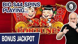 ★ Slots ★ JACKPOT! ★ Slots ★ Big $44 SPINS Playing 88 Fortunes