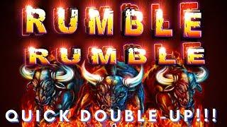 DOUBLE & DONE!  RUMBLE RUMBLE & FLYING HORSE SLOT MACHINES
