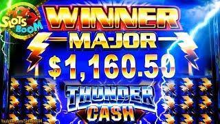 Thunder Cash $1000 Progressive HIT & BONUSES !!! Ainsworth & Aristocrat Slots