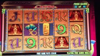 Cleopatra Slot Machine Bonus Free Spins IGT Win £2 a spin with re-triggers - BIG WIN!