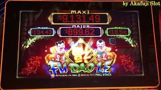 DOLLAR MELT DOWN Slot Max Bet in Harrahs Casino and FU Dao Le Slot in San manuel Casino