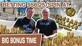 ⋆ Slots ⋆ CAESARS PALACE Slot Wins! ⋆ Slots ⋆ Betting $56.25 Per Spin on Golden Egypt