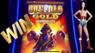• BUFFALO GOLD SLOT •WONDER WOMAN WILD BONUS•WILD TIMES!! RIGHT KEN?