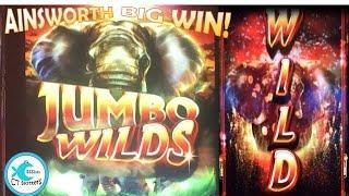 Ainsworth Jumbo Wilds Slot Machine - Free Spin Bonus Big Win!