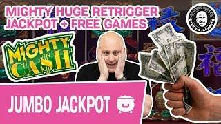 • MIGHTY HUGE Retrigger JACKPOT • + Free Games! Mighty Cash Slots