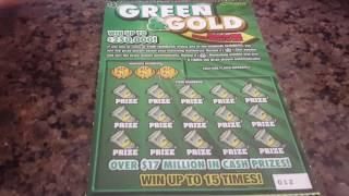 OHIO LOTTERY $250,000 GREEN AND GOLD $5 SCRATCH OFF TICKET.