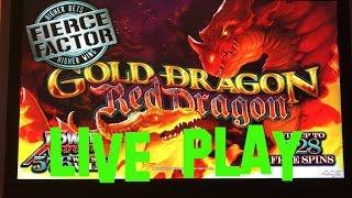 Gold Dragon Red Dragon Live Play max bet $3.75 AGS Slot Machine