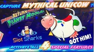 Unicow Bonus Big Win ! 200 + Free Spins ! Invaders Return from Planet Moolah !
