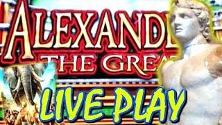 •ALEXANDER THE GREAT • SLOT MACHINE LIVE PLAY MAX BET