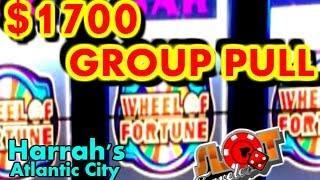 **$1700 HIGH LIMIT GROUP PULL** | HARRAH'S ATLANTIC CITY | SlotTraveler