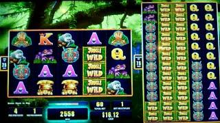 Colossal Jungle Wild Slot Machine Bonus - 5 Free Games Win with 2 Wild Reels