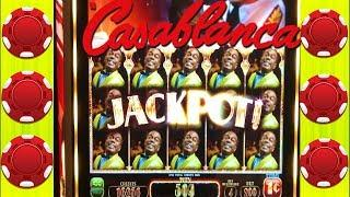 •BACK TO BACK BONUSES• CASABLANCA SLOT MACHINE •BIG WIN LINE HITS •CASINO GAMBLING!