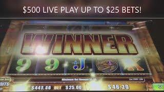 HIGH LIMIT $500 TO HIT A JACKPOT! AINSWORTH GOLDEN ARC SLOT MACHINE!