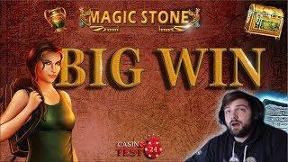 BIG WIN on Magic Stone Slot (Bally Wulff) - 1€ BET!