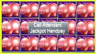 • JACKPOT HANDPAY • $1800 HIGH LIMIT GROUP PULL • PIGGY BANKIN' •