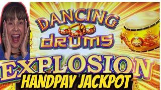 MY FIRST JACKPOT HANDPAY ON DANCING DRUMS EXPLOSION!