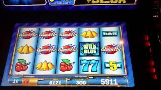 **Progressive Win**  Quick Hits Wild Blue Progressive