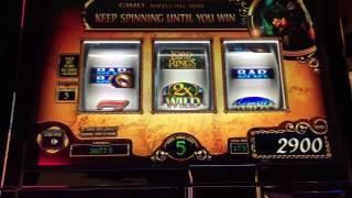 Lord of the Rings Slot Machine ~ 3 Reel ~ FRODO FREE SPINS ~ BIG WIN! ~ KEWADIN CASINO! • DJ BIZICK'