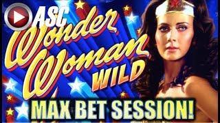 •$5.00 MAX BET! WAS SHE WONDERFUL AGAIN!?• WONDER WOMAN WILD | Slot Machine Bonus (Bally)