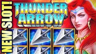 •NEW SLOT! THUNDER ARROW• JURASSIC QUEEN, GOD OF THE EAST, & NORTH QUEEN Slot Machine (KONAMI)