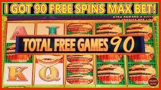 I GOT 90 FREE SPINS ON MAX BET   LION FESTIVAL BOOSTED CELEBRATION  