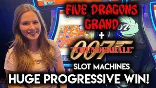 HUGE WIN!  James Bond Thunderball Slot Machine!! My Best Result on James Bond!!