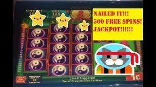 JACKPOT!  CHINA SHORES MEGA 500 FREE SPIN BONUS!