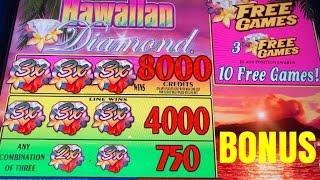 HAWAIIAN DIAMOND SLOT MACHINE BONUS-QUARTERS