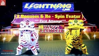 ( First Attempt) Aristocrat - Lightning Link : Happy Lantern - 2 Bonuses and Hold Spin
