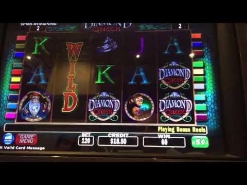 Diamond Queen nickel denom bonus win high limit slots
