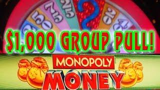 Monopoly Money WHEEL SPIN • HIGH LIMIT $1,000 GROUP PULL• 5/6