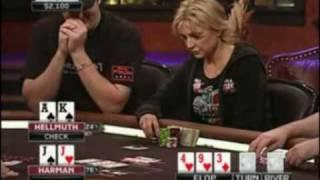 View On Poker - Jennifer Harman Beats Phil Hellmuth On Poker After Dark!