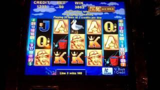 Aristocrat Technologies - Let's Go Fishin' Slot Bonus WIN