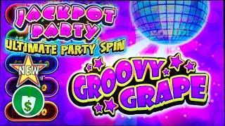 •️ New - Jackpot Party Ultimate Party Spin Groovy Grape slot machine, bonus