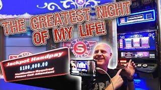My BEST NIGHT EVER in Vegas! • 100K INSANE JACKPOT! • Rewind Slot Play | The Big Jackpot