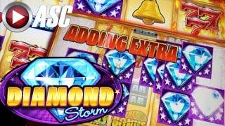 •GIVE ME DIAMONDS!!• DIAMOND STORM (Aristocrat) | Jackpot Progressive & Slot Machine Bonus Win!