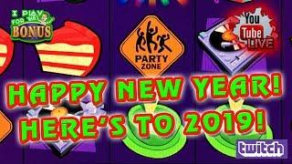 • LIVE • JACKPOT BLOCK PARTY • HAPPY NEW YEAR 2019! Maybe the last live stream of the year?
