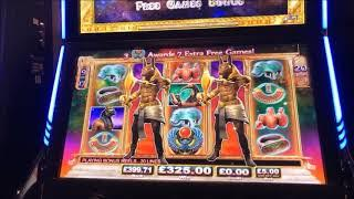MASSIVE HAND PAY WIN biggest UK jackpot on game of the gods , caught live on camera